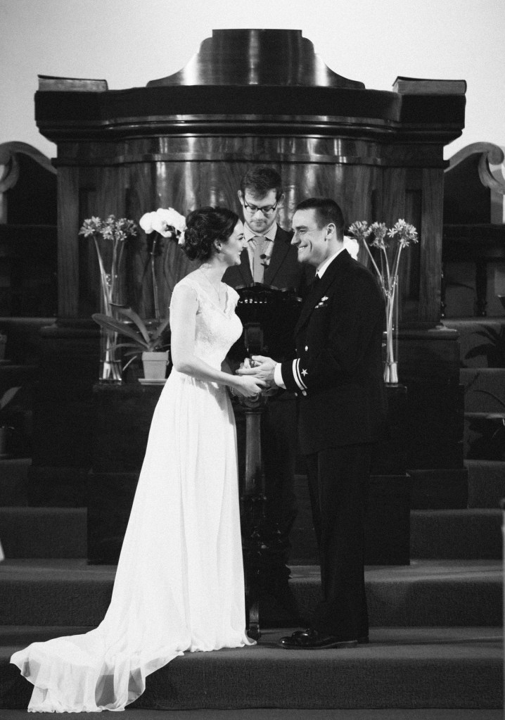 Sarah and Jonathan at First Parish