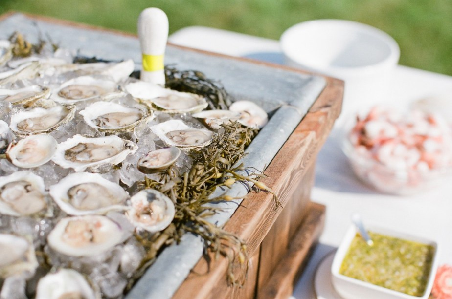 Maine Oysters at Wedding