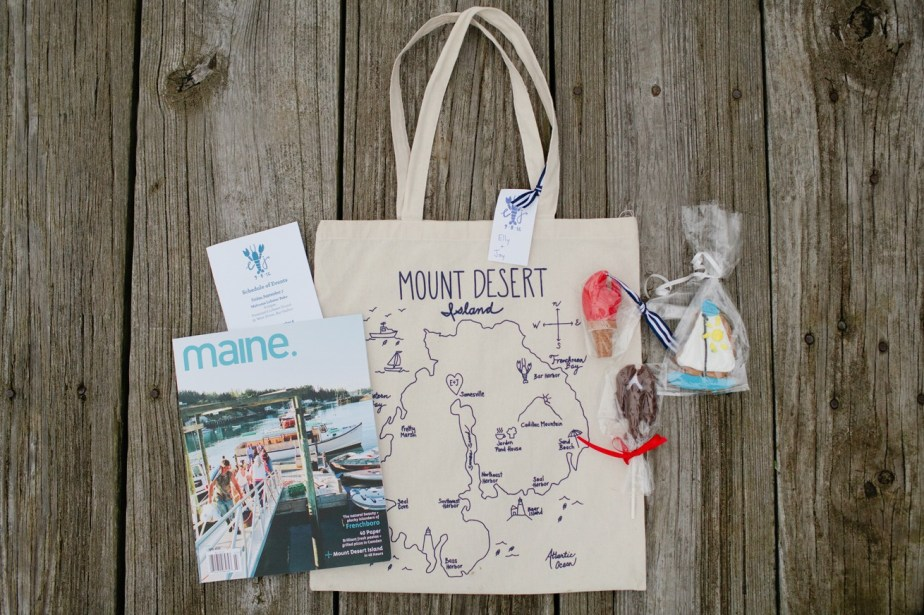 Maine Wedding Welcome Bag