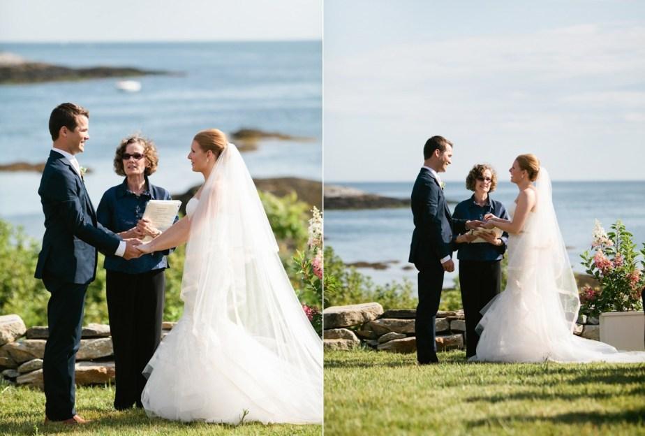 Wedding Ceremony on Southport Island