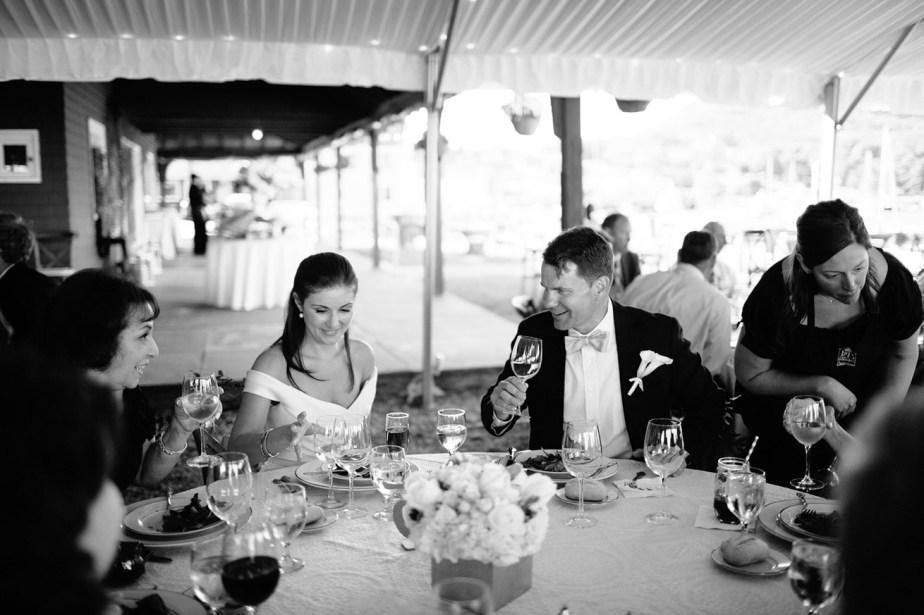 Wedding Dinner at Camden Yacht Club